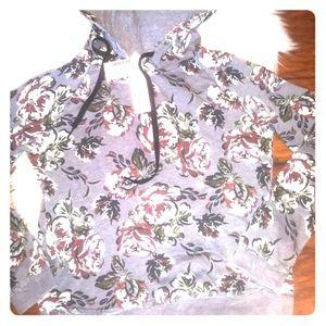 💗NEW! Aeropostale Floral Hoodie 💗